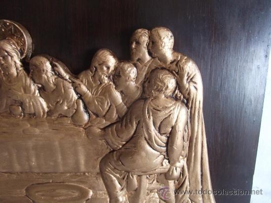 Arte: antiguo cuadro la ultima cena de yeso de principios de siglo! - Foto 2 - 24539511