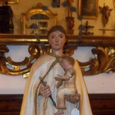 Arte: VIRGEN DEL CARMEN CON NIÑO JESÚS. CAP I POTA, SIGLO XVIII. Lote 37674449