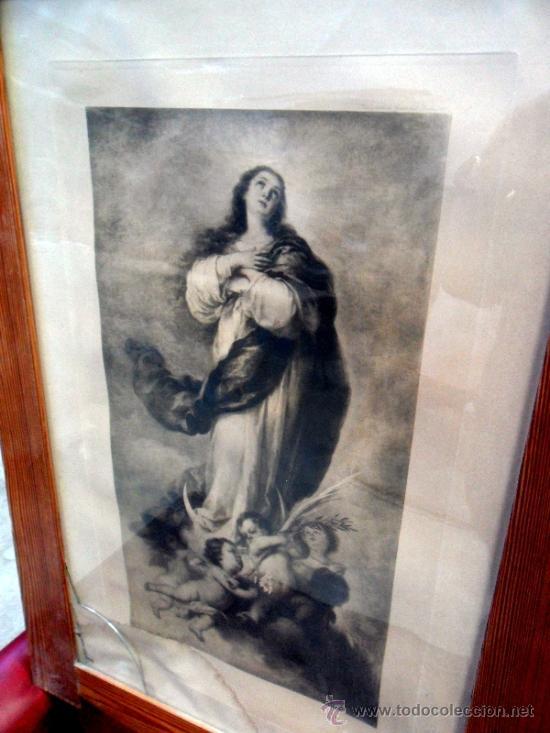 GRABADO RELIGIOSO INMACULADA PPIOS S.XX (Arte - Arte Religioso - Grabados)