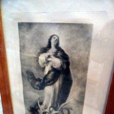Arte: GRABADO RELIGIOSO INMACULADA PPIOS S.XX. Lote 37740868