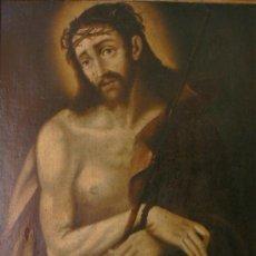 ANTIGUO CUADRO RELIGIOSO ECCE HOMO OLEO SOBRE LIENZO SIGLO XVII