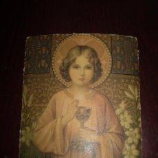 Arte: LITOGRAFIA NIÑO JESUS EN LA EUCARISTIA. Lote 37926483