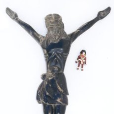 Arte: GRAN TALLA CRUZ CRUCIFIJO CIRCA 1870 ANTIGUA MADERA CRUZ JESUS JESUCRISTO. Lote 37991088