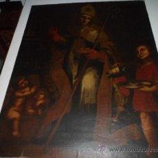 Arte: ANTIGUO LIENZO ESTILO TOLEDANO - [1858] S.19: S. NICOLAS DE BARI. FIRMADO CON CERTIFICADO. Lote 38053862