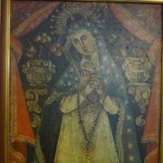 Arte: NUESTRA SEÑORA DE LA SOLEDAD, VÍRGEN COLONIAL. DE DN THOMAS 1738. Lote 38092047