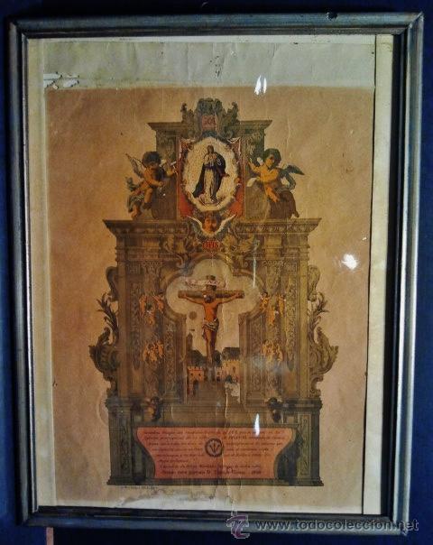 VERDADERA IMAGEN DEL CRISTO DE LEGANIEL, CUENCA. LITOGRAFÍA FIRMADA POR RODRÍGUEZ, MADRID 1898. (Arte - Arte Religioso - Litografías)