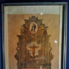 Arte: VERDADERA IMAGEN DEL CRISTO DE LEGANIEL, CUENCA. LITOGRAFÍA FIRMADA POR RODRÍGUEZ, MADRID 1898.. Lote 38214108