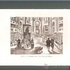 Arte: LITOGRAFÍA ACTO DE LA DECLARACIÓN DE LA INFABILIDAD PONTIFICIA 185?. Lote 38536704
