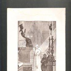Arte: LITOGRAFÍA PIO IX ORANDO ANTE LA ESTATUA DE SAN PEDRO 1872. Lote 38538468