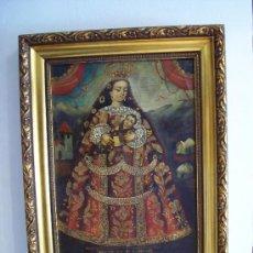 Arte: NUESTRA SEÑORA DE COCHARCAS (CUSCO - PERÚ), OLEO SOBRE LIENZO ¡¡ VER !!. Lote 38588571