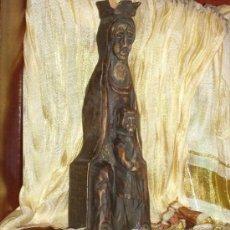 Arte: TALLA DE LA VIRGEN EN MADERA. NIÑO. ESCULTURA. TALLADA. 30 CM. . Lote 38787501
