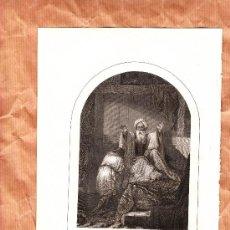 Arte: LITOGRAFÍA DEL XIX TEMA BÍBLICO. Lote 38935997