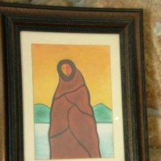 Arte: GOUACHE PINTOR VIGO JOSÉ LODEIRO. (1930-1996).. Lote 38951932