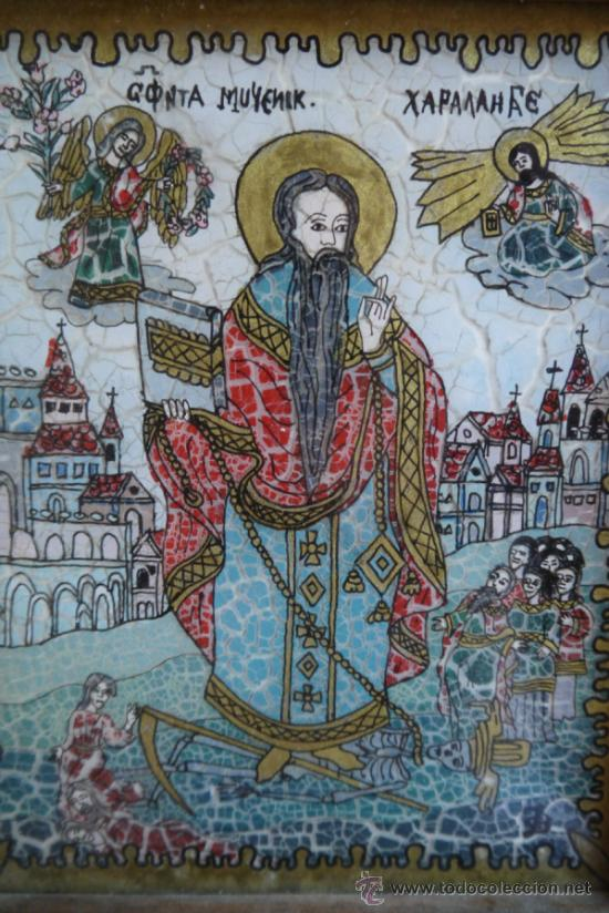 ICONO ORTODOXO PINTADO EN VIDRIO (Arte - Arte Religioso - Pintura Religiosa - Otros)