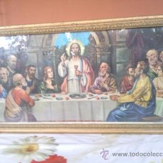 Arte: ANTIGUO CUADRO CON LAMINA RELIGIOSA, LA ULTIMA CENA DE JESUS.. Lote 39021657