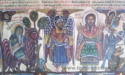 Arte: antigua pintura religiosa, cristiana etíope. AUTOR G.K.S. - Foto 4 - 39043815