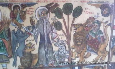 Arte: antigua pintura religiosa, cristiana etíope. AUTOR G.K.S. - Foto 5 - 39043815