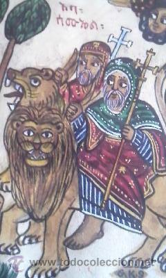 Arte: antigua pintura religiosa, cristiana etíope. AUTOR G.K.S. - Foto 7 - 39043815