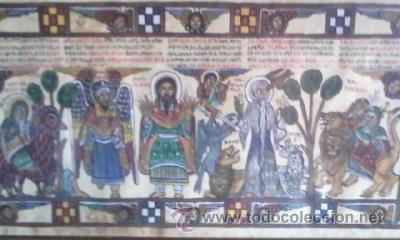 Arte: antigua pintura religiosa, cristiana etíope. AUTOR G.K.S. - Foto 14 - 39043815
