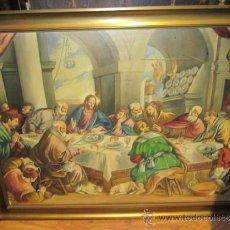 Arte: LA ÚLTIMA CENA DE BASSANO, COPIA DE MANUEL ISAAC PERAL, EN ÓLEO SOBRE LIENZO.FIRMADO. GRAN FORMATO.. Lote 39162663