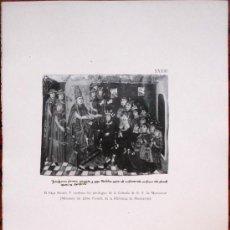 Arte: MONTSERRAT, EL PAPA NICOLAU V CONFIRMANT ELS PRIVILEGIS DE LA CONFRARIA DE LA MARE DE DEU. Lote 39174598