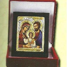 Arte: 15.I. ICONO BIZANTINO ORO-PLATA - 8 CM X 6,5 CM - COLECCION ICONOS BIZANTINOS. Lote 166496574