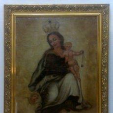 Arte: OLEO FN. SIGLO XVIII - PP. XIX. VIRGEN DEL CARMEN CON EL NIÑO. Lote 28501520