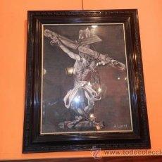 Arte: CUADRO DE CRISTO CRUCIFICADO / PINTOR A. LACAL. Lote 39380424