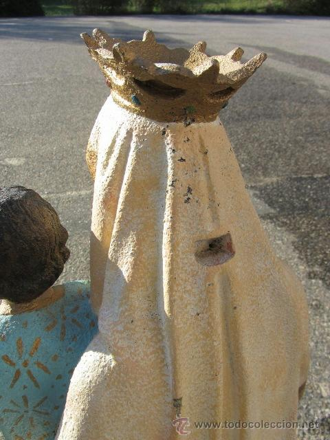 Arte: Virgen Carmen marmolina maciza 96 cm. alto - Foto 8 - 39403194