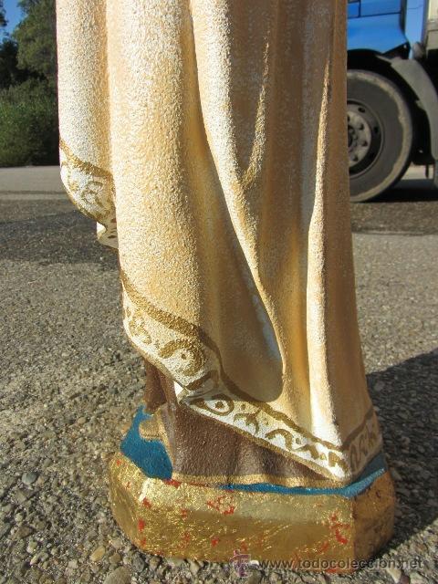 Arte: Virgen Carmen marmolina maciza 96 cm. alto - Foto 4 - 39403194