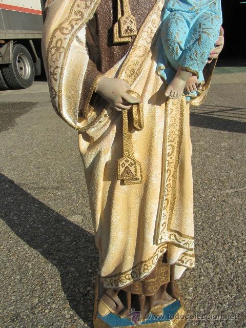 Arte: Virgen Carmen marmolina maciza 96 cm. alto - Foto 13 - 39403194