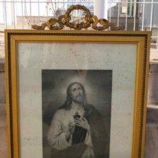 Arte: GRABADO RELIGIOSO CON PRECIOSO MARCO DE LA EPOCA . Lote 39430806