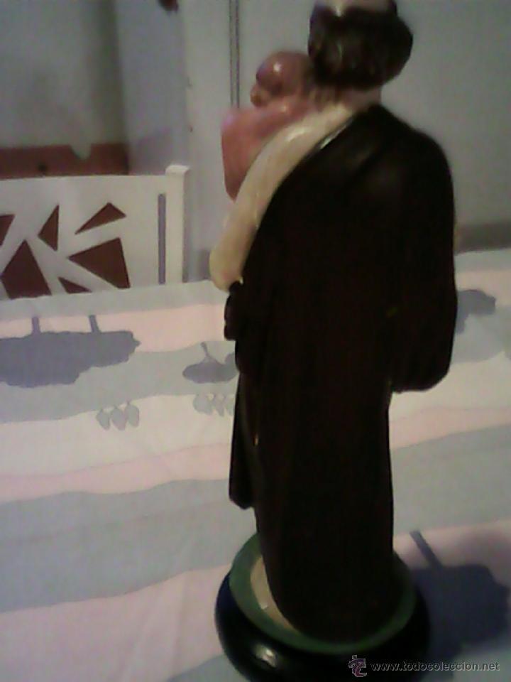 Arte: ANTIGUA ESCULTURA DE S.JOSE CON EN NIÑO JESUS DE ESTUCO AÑOS 50,60 - Foto 3 - 39465954
