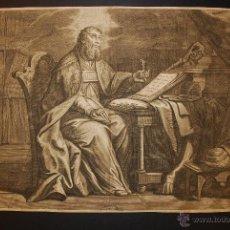 Arte: SAN PABLO. GRABADO ORIGINAL DE HALLÉ. SIGLO XVIII.. Lote 39549601