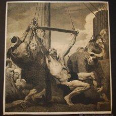 Arte: MARTIRIO DE SAN BARTOLOMÉ. RIBERA. LITOGRAFÍA DE NANTEUIL. SIGLO XIX.. Lote 183386826