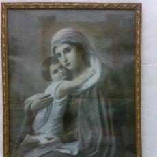 Arte: ANTIGUA LAMINA ENMARCADA EN BONITO MARCO DORADO.. Lote 36064319