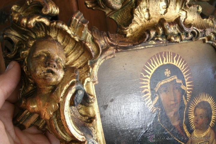 Arte: ANTIGUA SACRA ORIGINAL BARROCA S. XVII-PINTURA SOBRE COBRE icono Salus Populi Romani-Capilla Paulina - Foto 2 - 39683371