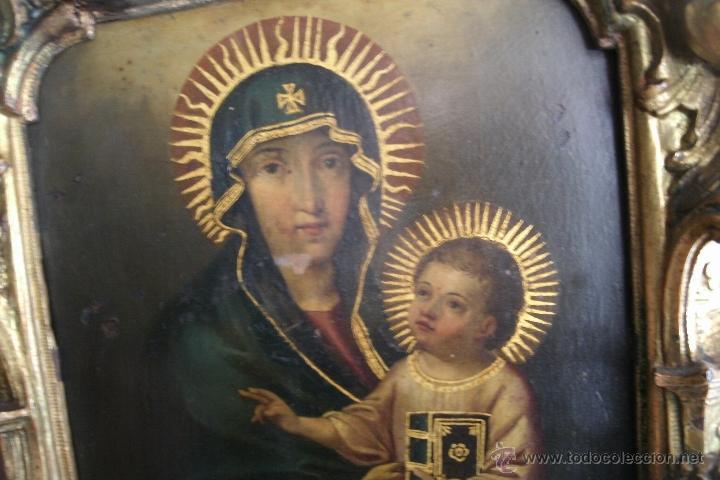 Arte: ANTIGUA SACRA ORIGINAL BARROCA S. XVII-PINTURA SOBRE COBRE icono Salus Populi Romani-Capilla Paulina - Foto 5 - 39683371