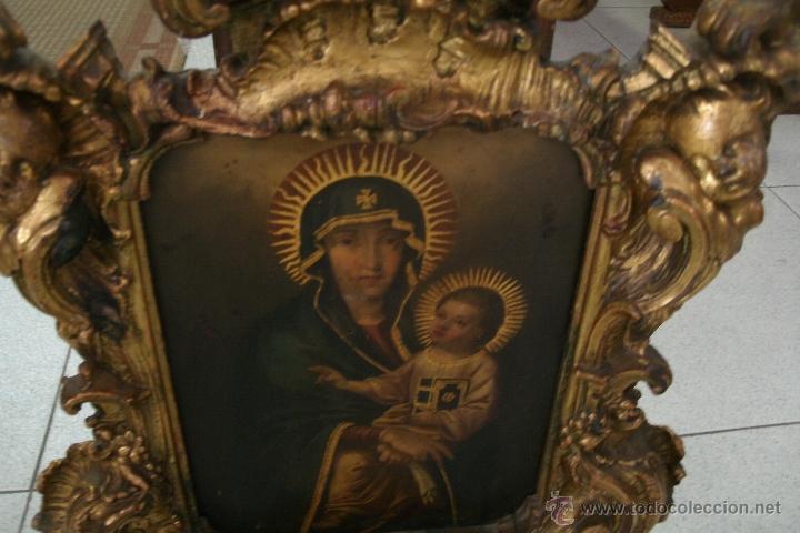 Arte: ANTIGUA SACRA ORIGINAL BARROCA S. XVII-PINTURA SOBRE COBRE icono Salus Populi Romani-Capilla Paulina - Foto 6 - 39683371
