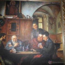 Arte: OLEO DE ESCENA SACRISTIA ALEMANA [SIN MARCO]. Lote 39745122