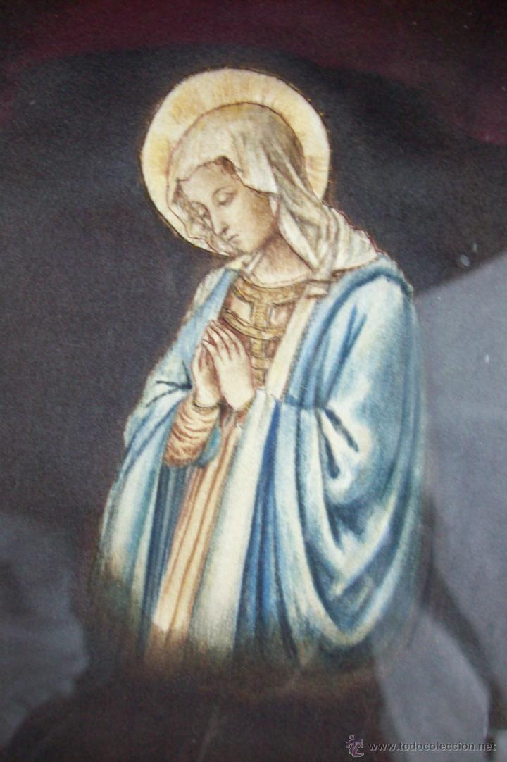 Arte: Virgen pintada sobre seda - Foto 3 - 39793101