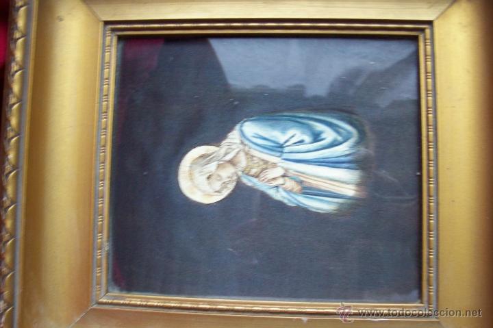 Arte: Virgen pintada sobre seda - Foto 11 - 39793101