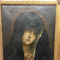 Arte: VIRGEN - ÓLEO SOBRE LIENZO FIRMADO J. LÓPEZ 1846. Lote 39838142