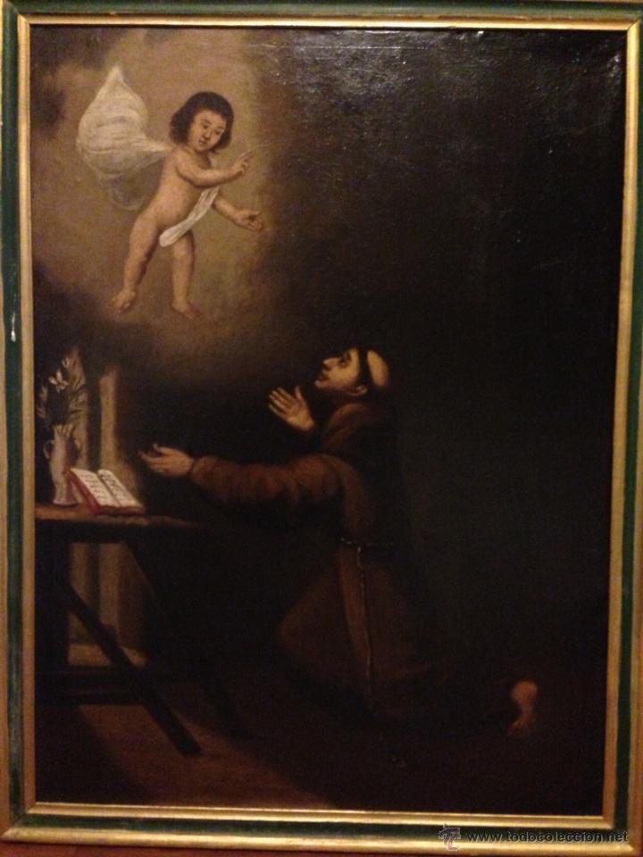 CUADRO AL OLEO SAN ANTONIO SIGLO XVIII (Arte - Arte Religioso - Pintura Religiosa - Oleo)