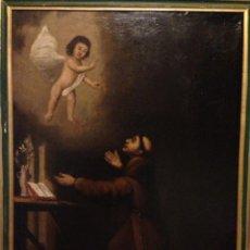 Arte: CUADRO AL OLEO SAN ANTONIO SIGLO XVIII. Lote 39845894