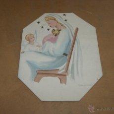Arte: MONTSERRAT O. TRABAL. ACUARELA RELIGIOSA. . Lote 39905656