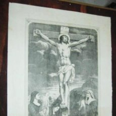 Arte: 53 X 44 CM - CRISTO REDENTOR DEL MUNDO - MALAGA SANTA MARIA Nº 251 - ANTIGUO GRABADO LITOGRAFICO. Lote 40007030