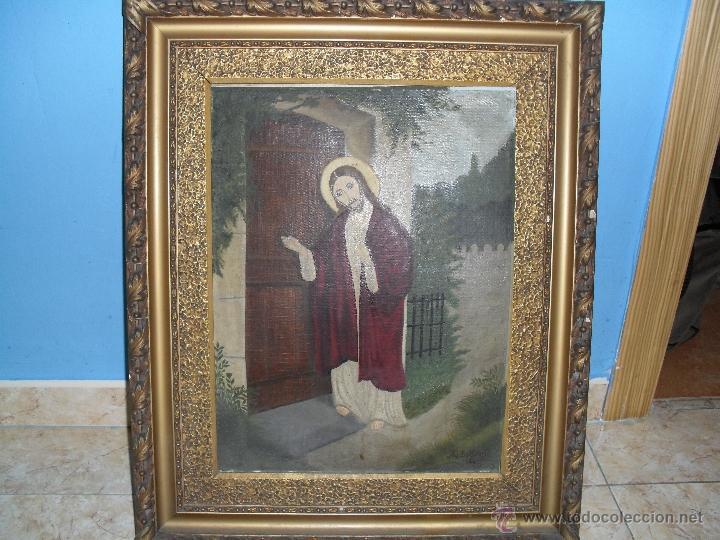 PAREJA DE PINTURAS RELIGIOSAS (Arte - Arte Religioso - Pintura Religiosa - Oleo)