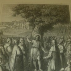 Arte: GRABADO RELIGIOSO PREDICACION DE SAN JUAN BAUTISTA WILMANN S.C. IMPRENTA CHARDON PARIS. Lote 39956009