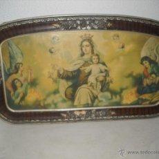 Arte: ANTIGUA LITOGRAFIA ENMARCADA,AÑOS 30,VIRGEN CON NIÑO JESUS.. Lote 40037183